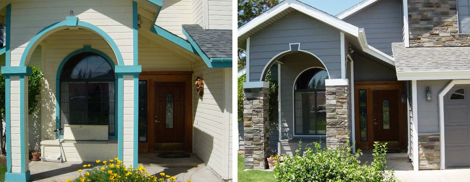 House siding before and after